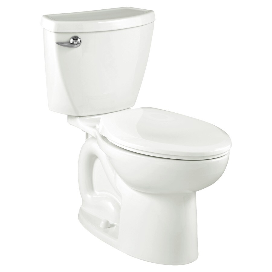 American Standard Cadet 3 White 1.6-GPF (6.06-LPF) 10 Rough-In Round 2-Piece Standard Height Toilet