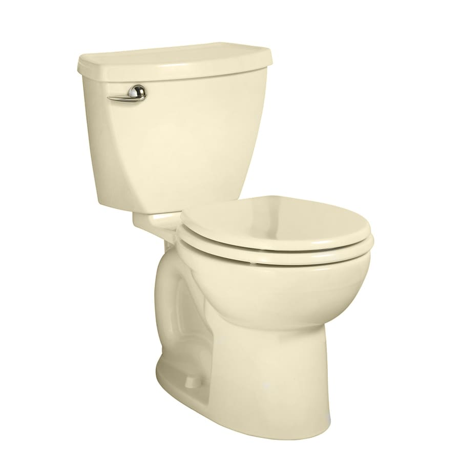American Standard Cadet 3 Bone WaterSense Labeled  Round Standard Height 2-piece Toilet 10-in Rough-In Size