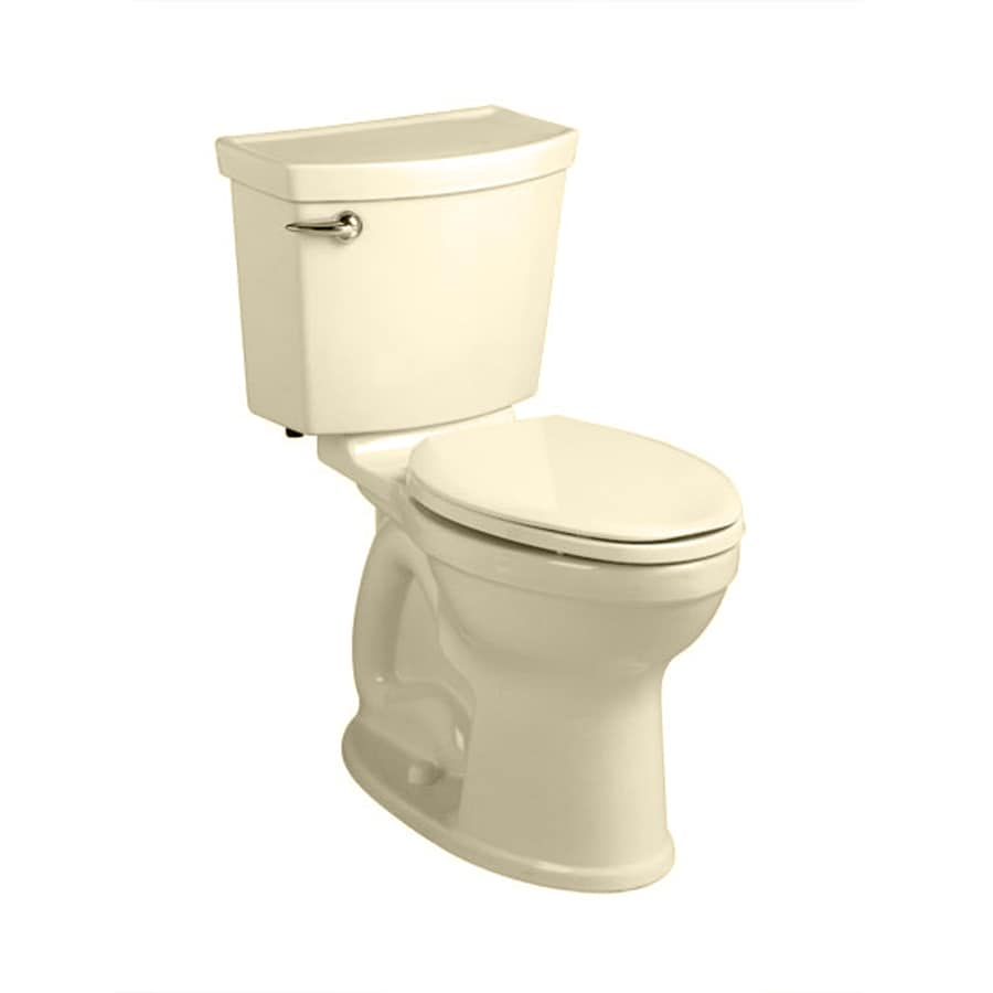 American Standard Champion 4 1.28-GPF Bone WaterSense Round Chair Height 2-Piece Toilet