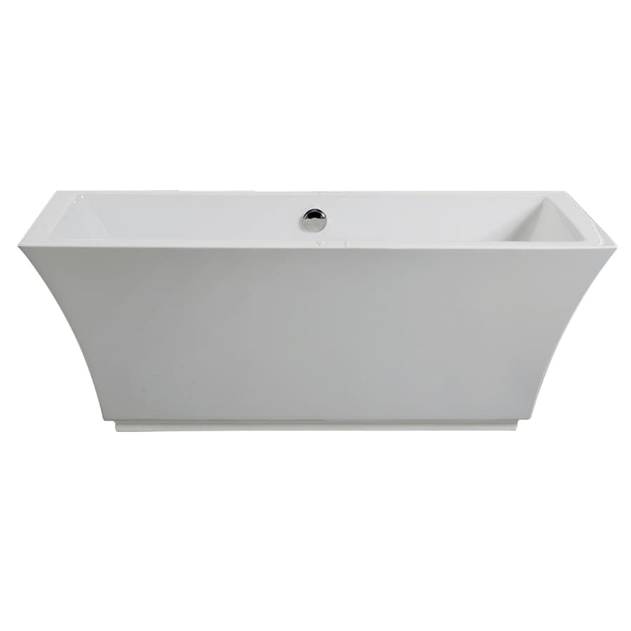 shop american standard tofino white acrylic freestanding bathtub with center drain at. Black Bedroom Furniture Sets. Home Design Ideas