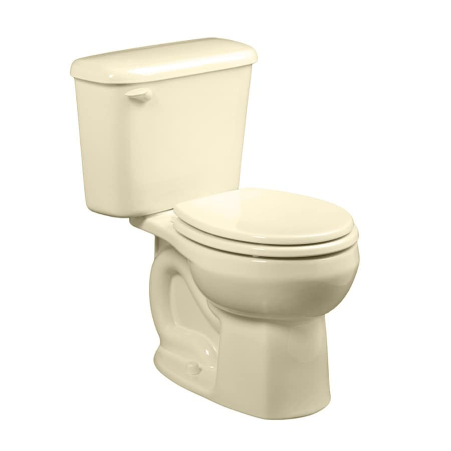 American Standard Colony Bone  Round Standard Height 2-piece Toilet 10-in Rough-In Size