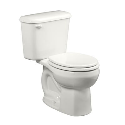 Colony White Round Standard Height 2 Piece Toilet 10 In Rough Size