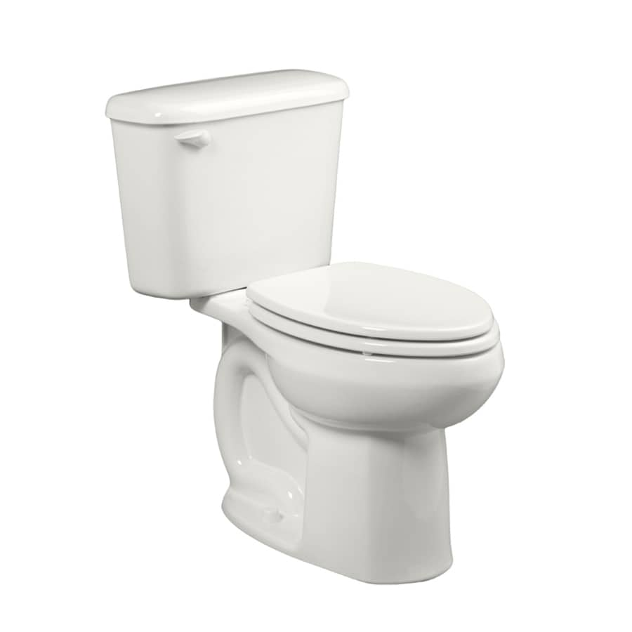 American Standard Colony White 1.6-GPF (6.06-LPF) 10 Rough-In Elongated 2-Piece Chair Height Toilet