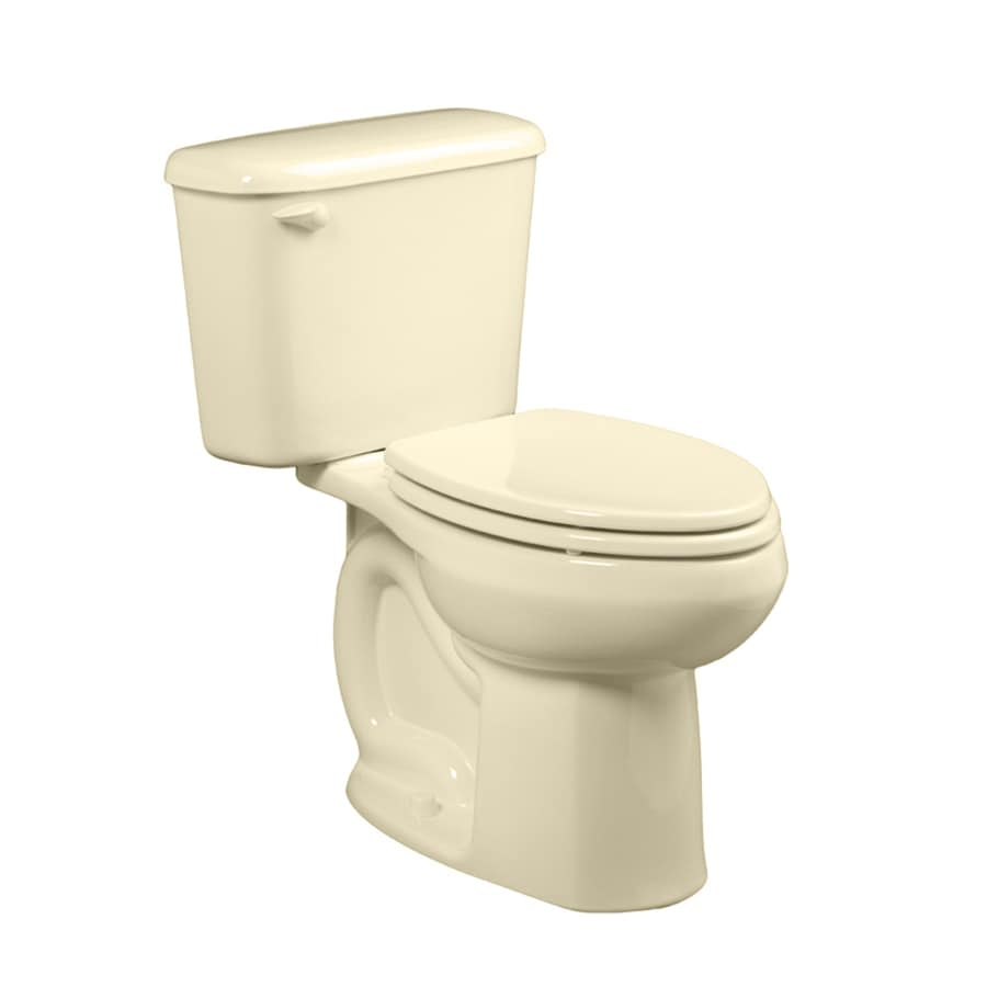 American Standard Colony Bone WaterSense Labeled  Elongated Chair Height 2-piece Toilet 10-in Rough-In Size