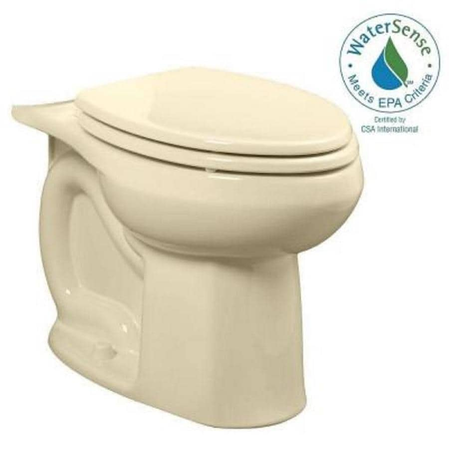 American Standard Colony Bone Elongated Chair Height Toilet Bowl