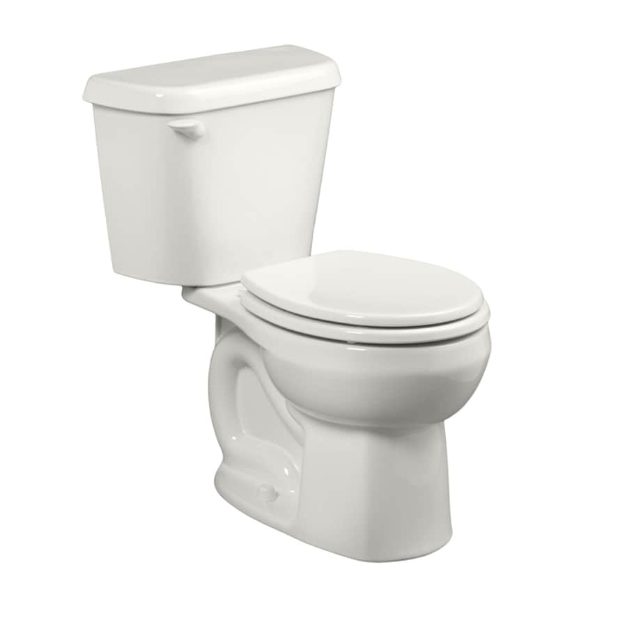 American Standard Colony 1.28-GPF (4.85-LPF) White WaterSense Round Standard Height 2-Piece Toilet