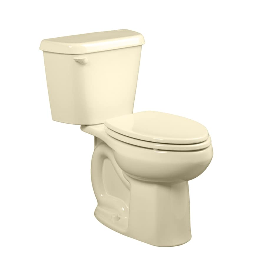 American Standard Colony Bone WaterSense Labeled  Elongated Standard Height 2-piece Toilet 12-in Rough-In Size