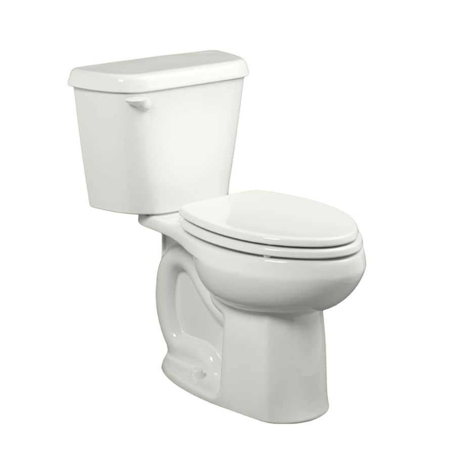 American Standard Colony White  Elongated Chair Height 2-piece Toilet 12-in Rough-In Size