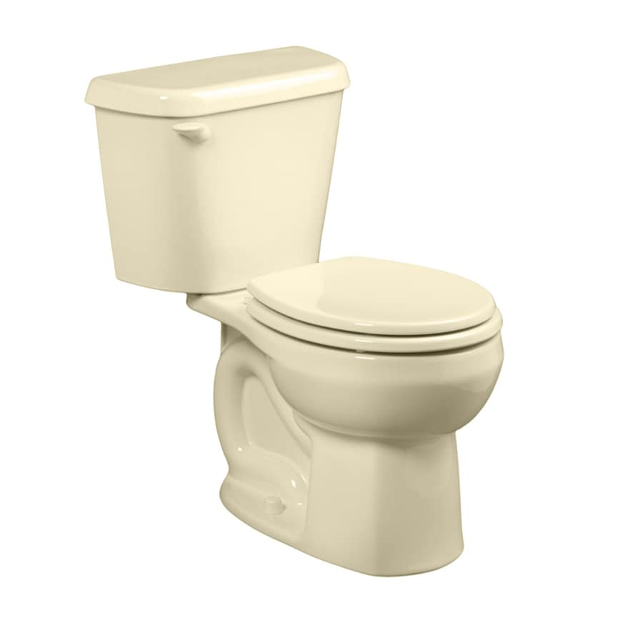 American Standard Colony Bone  Round Standard Height 2-piece Toilet 12-in Rough-In Size