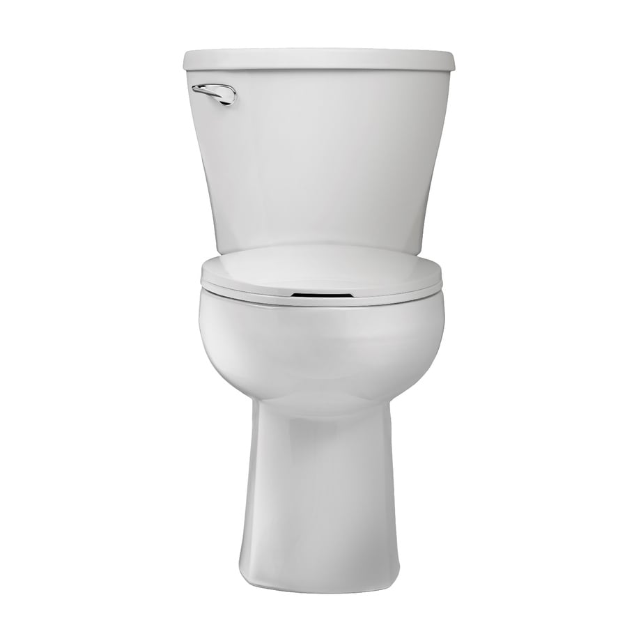 American Standard Mainstream WaterWarden 1.28-GPF (4.85-LPF) White Elongated Chair Height 2-piece Toilet