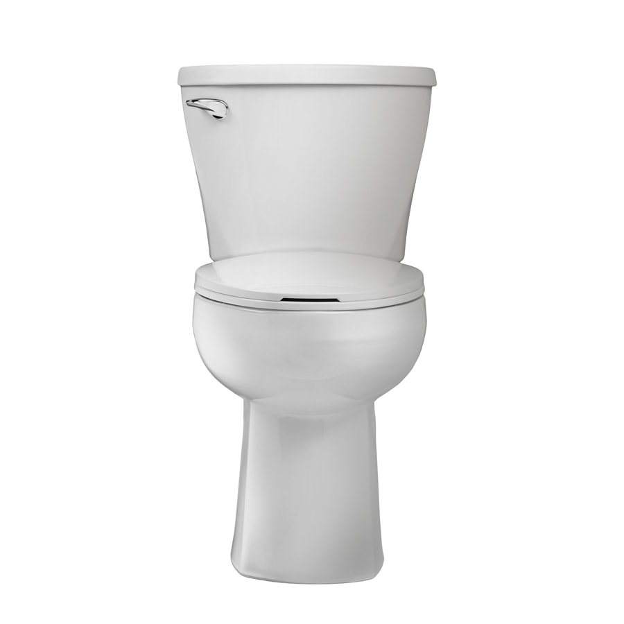 American Standard Mainstream White 1.28-GPF (4.85-LPF) 12 Rough-In WaterSense Elongated 2-Piece Chair Height Toilet