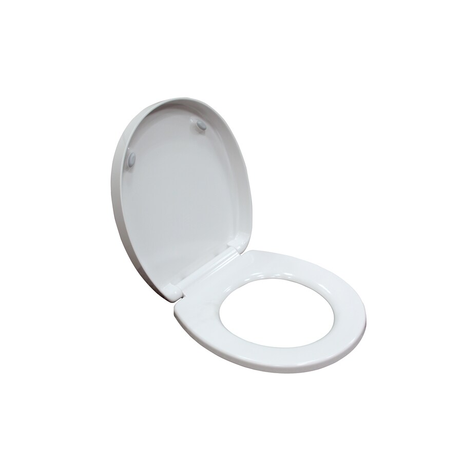 American Standard White Plastic Round Slow Close Toilet Seat