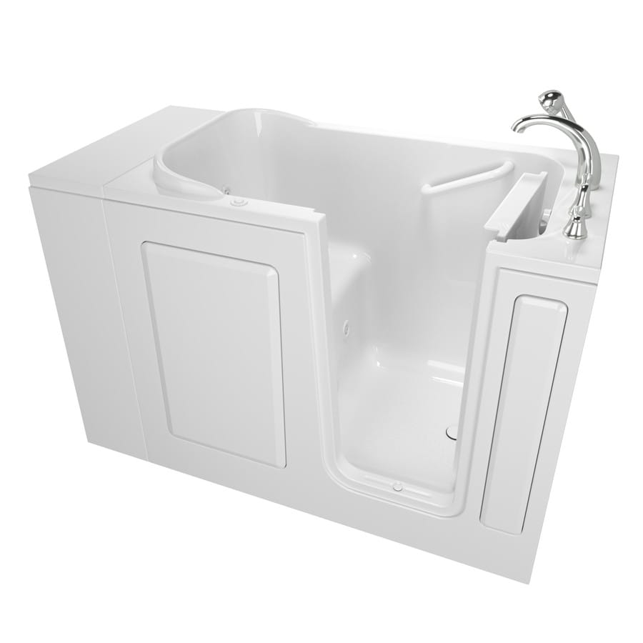 Safety Tubs 48-in White Acrylic Walk-In Whirlpool Tub with Right-Hand Drain