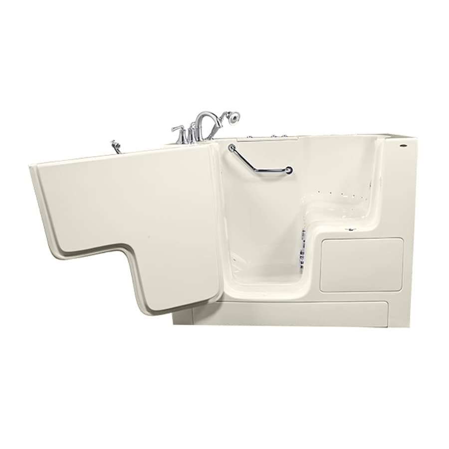 American Standard 52-in L x 32-in W x 40-in H Linen Gelcoat and Fiberglass Rectangular Walk-in Whirlpool Tub and Air Bath