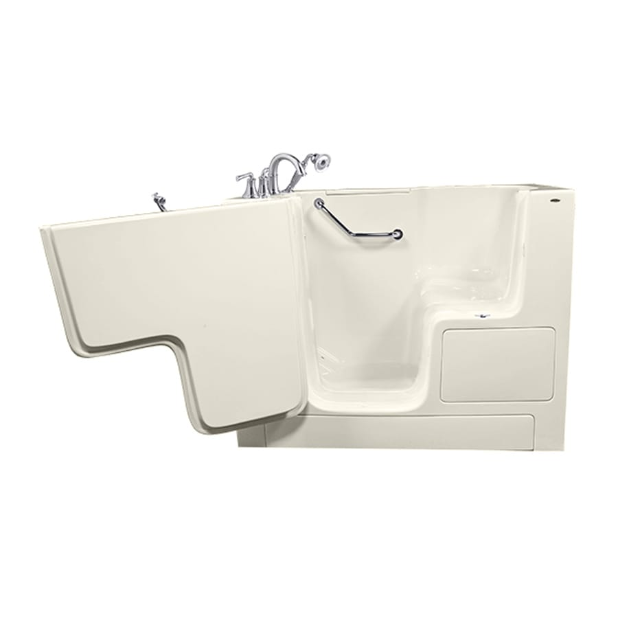American Standard Linen Gelcoat/Fiberglass Rectangular Walk-In Bathtub with Left-Hand Drain (Common: 32-in x 52-in; Actual: 40-in x 32-in x 52-in)