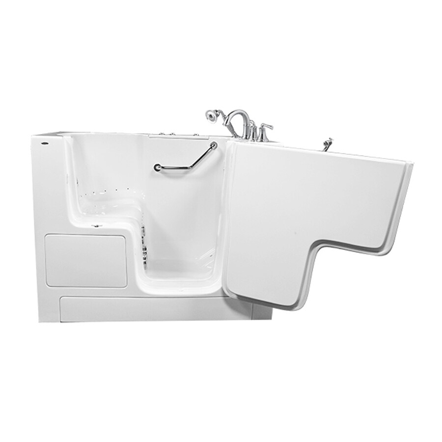 American Standard 52-in L x 32-in W x 40-in H White Gelcoat and Fiberglass Rectangular Walk-in Whirlpool Tub and Air Bath