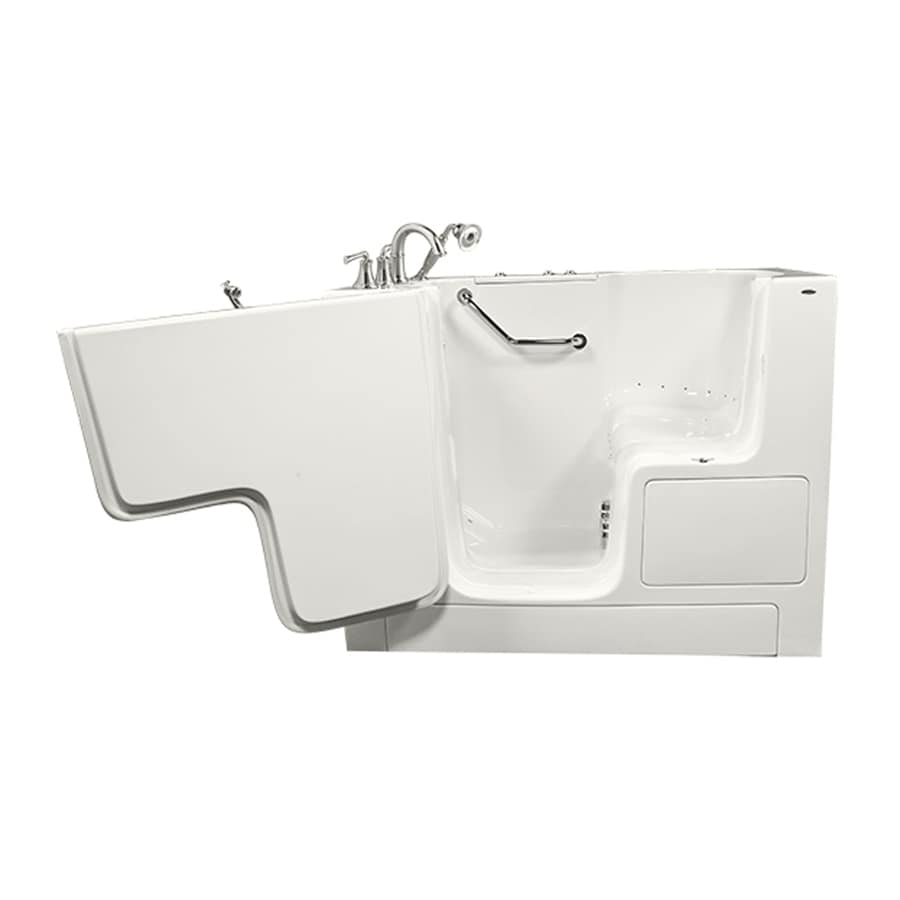 American Standard 52-in L x 32-in W x 40-in H White Gelcoat/Fiberglass Rectangular Walk-in Air Bath
