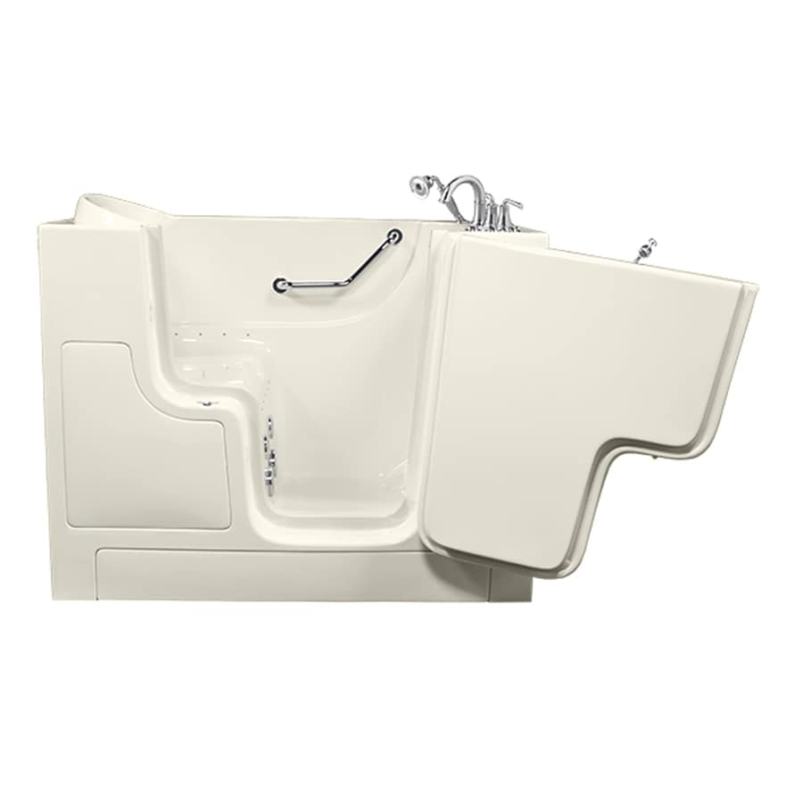 American Standard 52-in L x 30-in W x 40-in H Linen Gelcoat and Fiberglass Rectangular Walk-in Whirlpool Tub and Air Bath