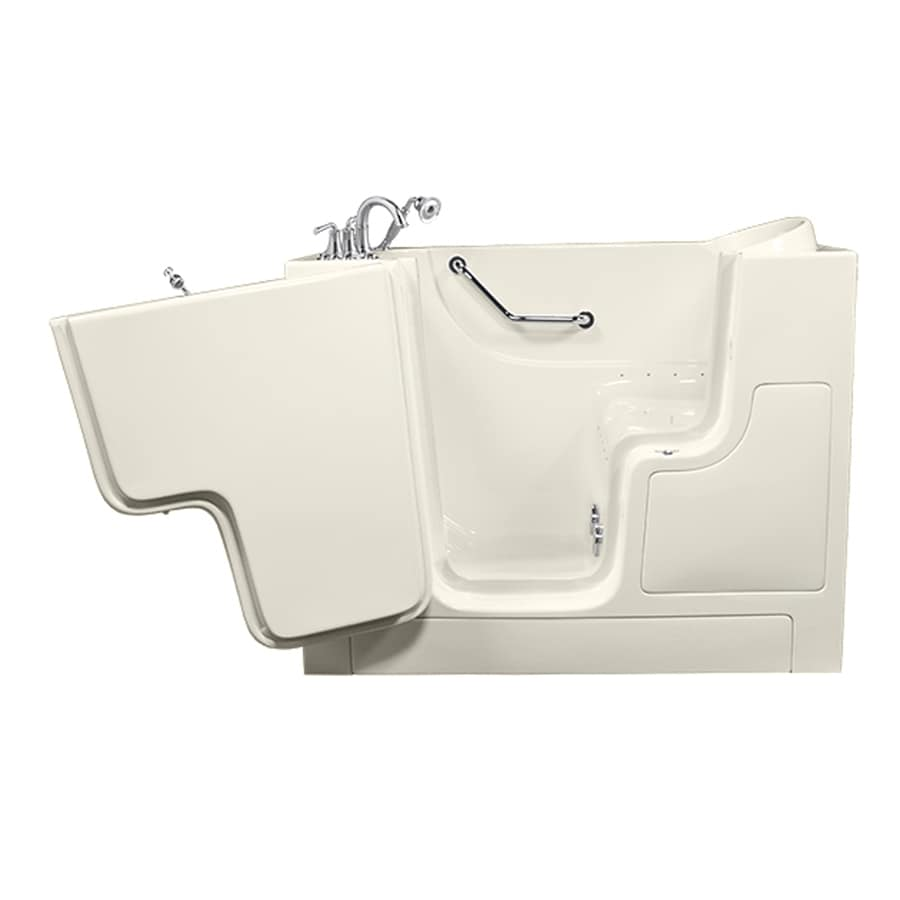 American Standard 52-in L x 30-in W x 40-in H Linen Gelcoat/Fiberglass Rectangular Walk-in Air Bath