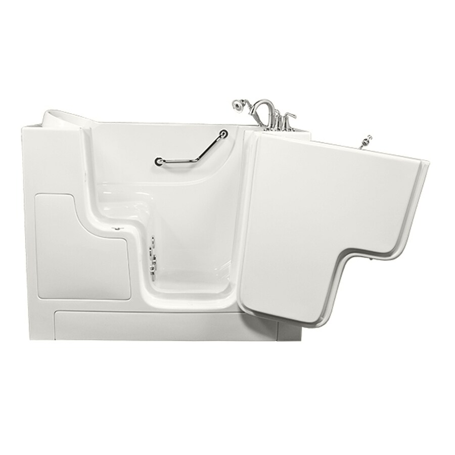 American Standard White Gelcoat and Fiberglass Rectangular Walk-in Whirlpool Tub (Common: 30-in x 52-in; Actual: 40-in x 30-in x 52-in)