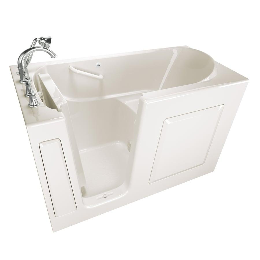 American Standard 59-in Linen Gelcoat/Fiberglass Walk-In Bathtub with Left-Hand Drain