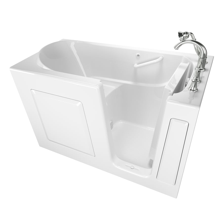 American Standard Walk-in White Gelcoat/Fiberglass Rectangular Walk-in Bathtub with Right-Hand Drain (Common: 30-in x 59-in; Actual: 37-in x 30-in x 59-in