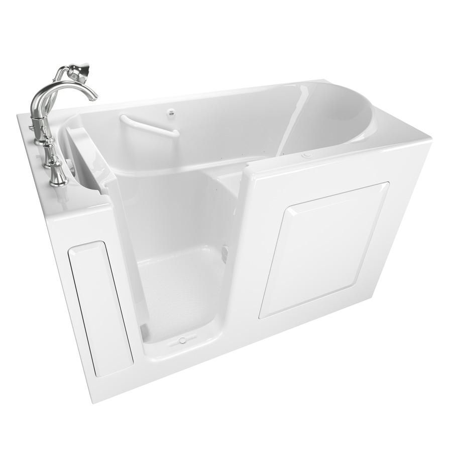American Standard 59-in L x 30-in W x 37-in H White Gelcoat/Fiberglass 1-Person-Person Rectangular Walk-in Air Bath