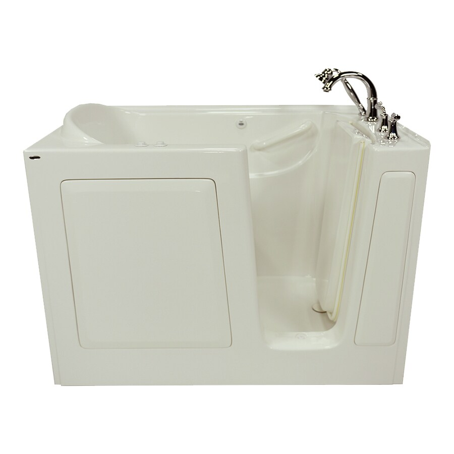 American Standard 50-in L x 30-in W x 37-in H Linen Gelcoat and Fiberglass Rectangular Walk-in Whirlpool Tub and Air Bath