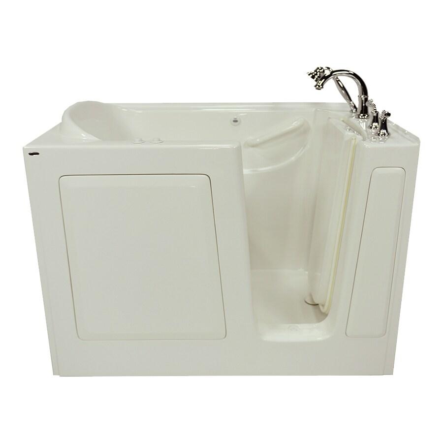 American Standard 50-in L x 30-in W x 37-in H Linen Gelcoat/Fiberglass 1-Person-Person Rectangular Walk-in Air Bath