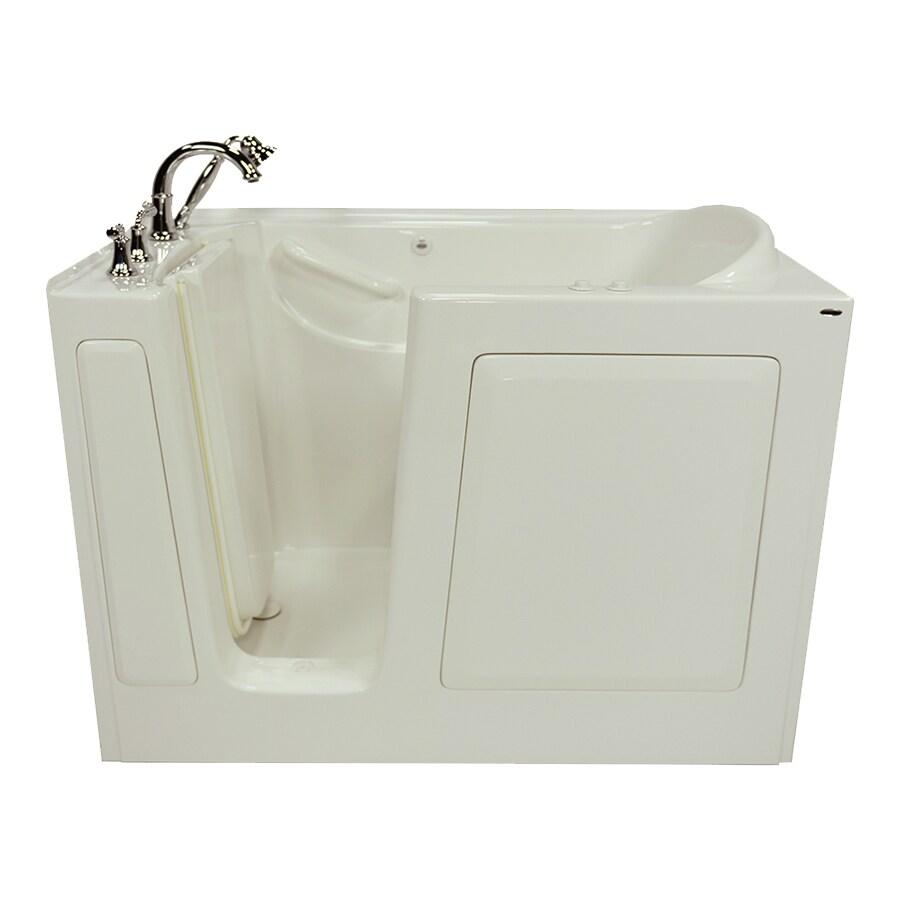 American Standard 1-Person Linen Gelcoat/Fiberglass Rectangular Walk-in Whirlpool Tub (Common: 30-in x 50-in; Actual: 37-in x 30-in x 50-in)
