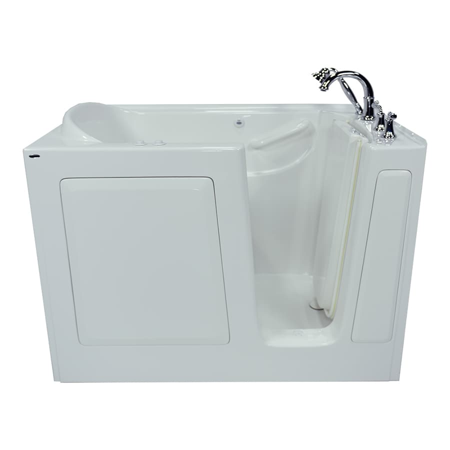 American Standard 50-in L x 30-in W x 37-in H White Gelcoat/Fiberglass 1-Person-Person Rectangular Walk-in Air Bath