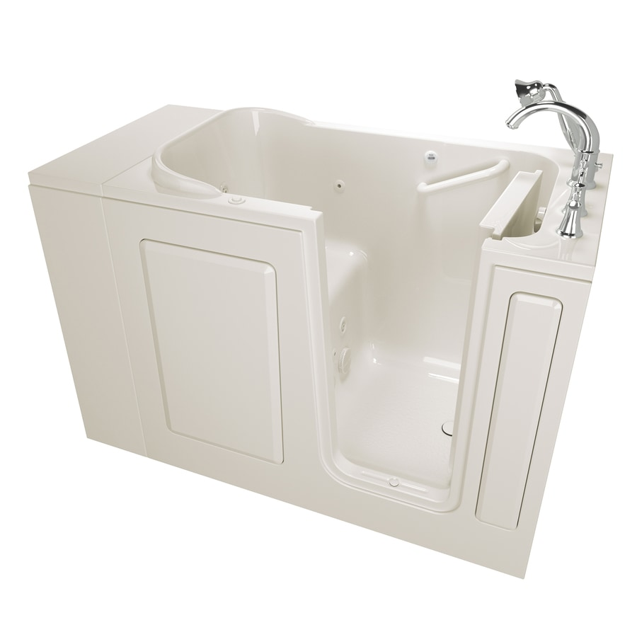 Safety Tubs 48-in Linen Gelcoat/Fiberglass Walk-In Whirlpool Tub with Right-Hand Drain