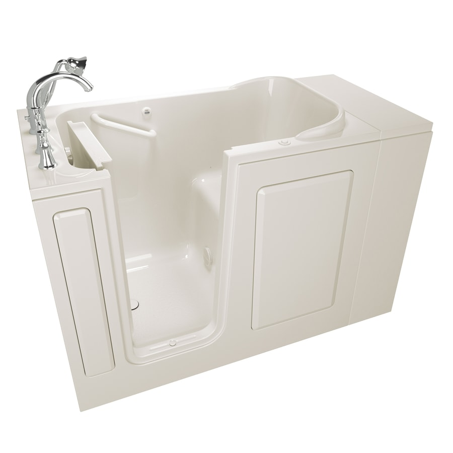 American Standard 48-in Linen Gelcoat/Fiberglass Walk-In Air Bath with Left-Hand Drain