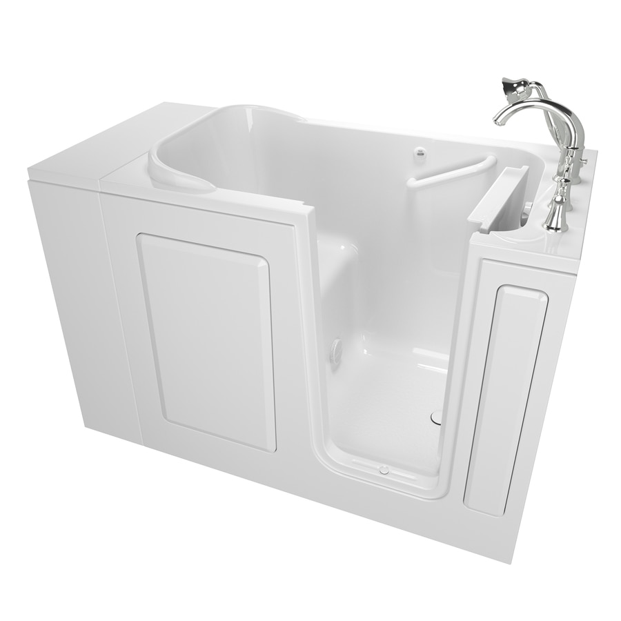 Safety Tubs 48-in White Gelcoat/Fiberglass Walk-In Bathtub with Right-Hand Drain