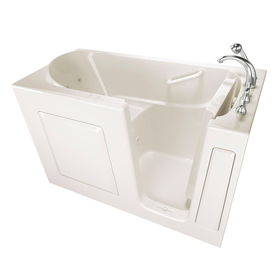 Shop Safety Tubs 59-in Biscuit Gelcoat/Fiberglass Walk-In Whirlpool ...