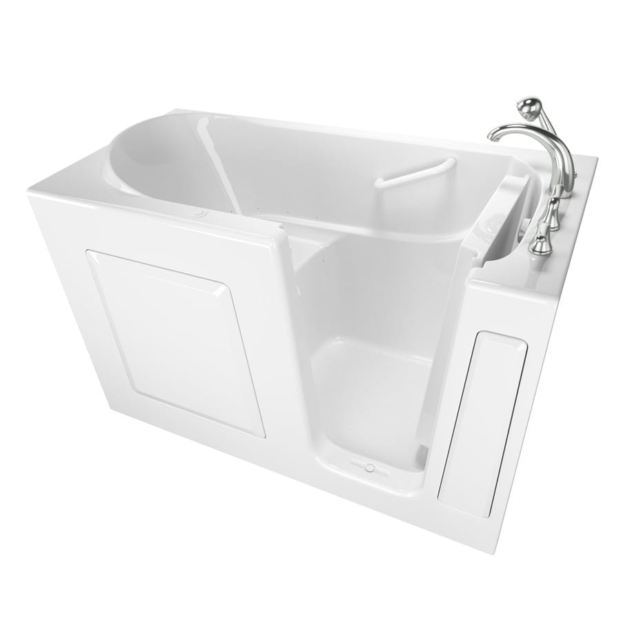 Safety Tubs Walk-In-Baths 59-in L x 30-in W x 37-in H White Gelcoat/Fiberglass 1-Person-Person Rectangular Walk-in Air Bath
