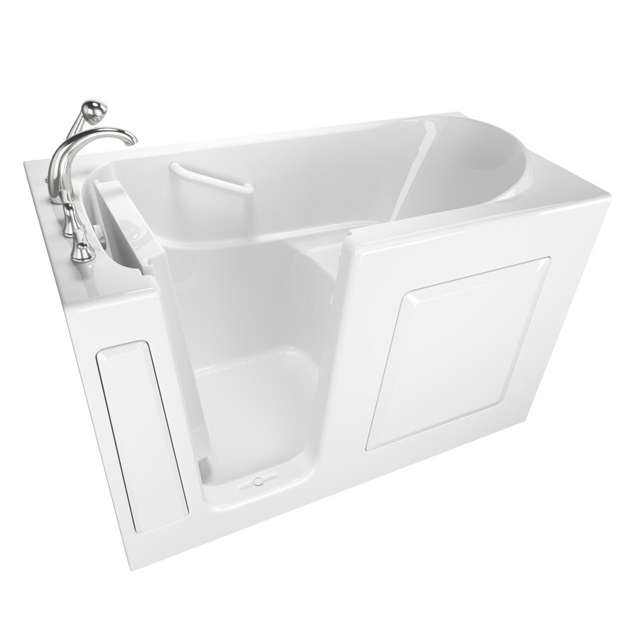 Safety Tubs 59-in White Gelcoat/Fiberglass Walk-In Bathtub with Left-Hand Drain