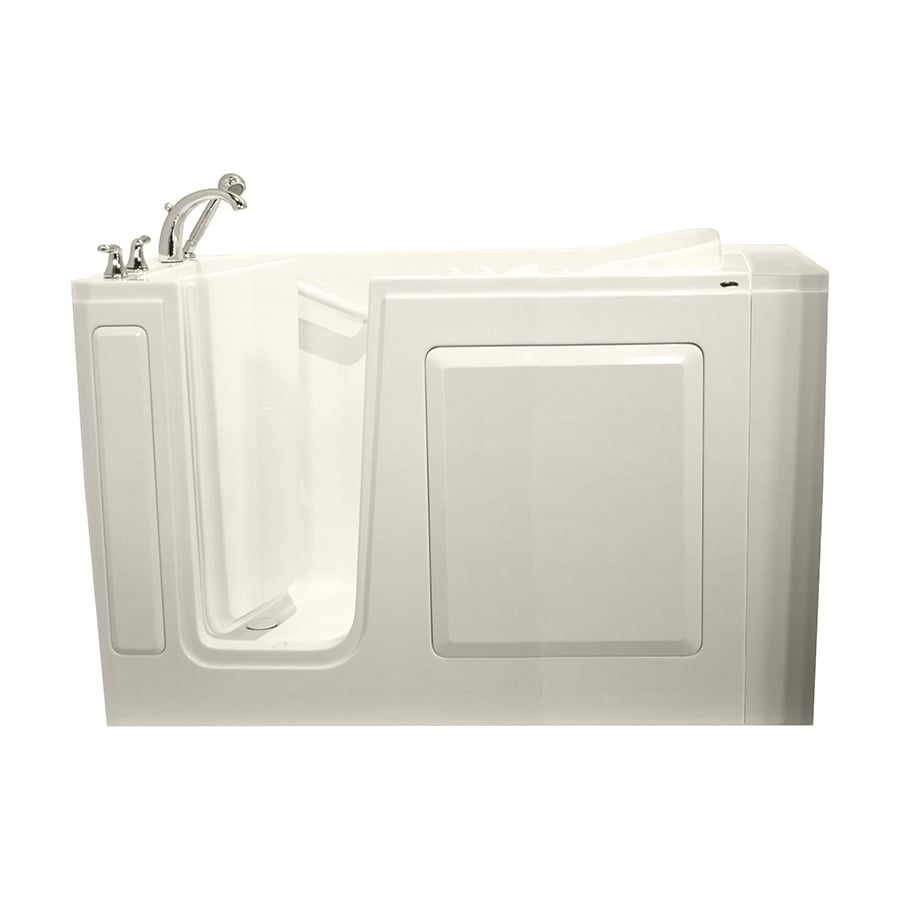 Safety Tubs 50-in L x 30-in W x 37-in H 1-Person Biscuit Gelcoat/Fiberglass Rectangular Walk-in Whirlpool Tub and Air Bath