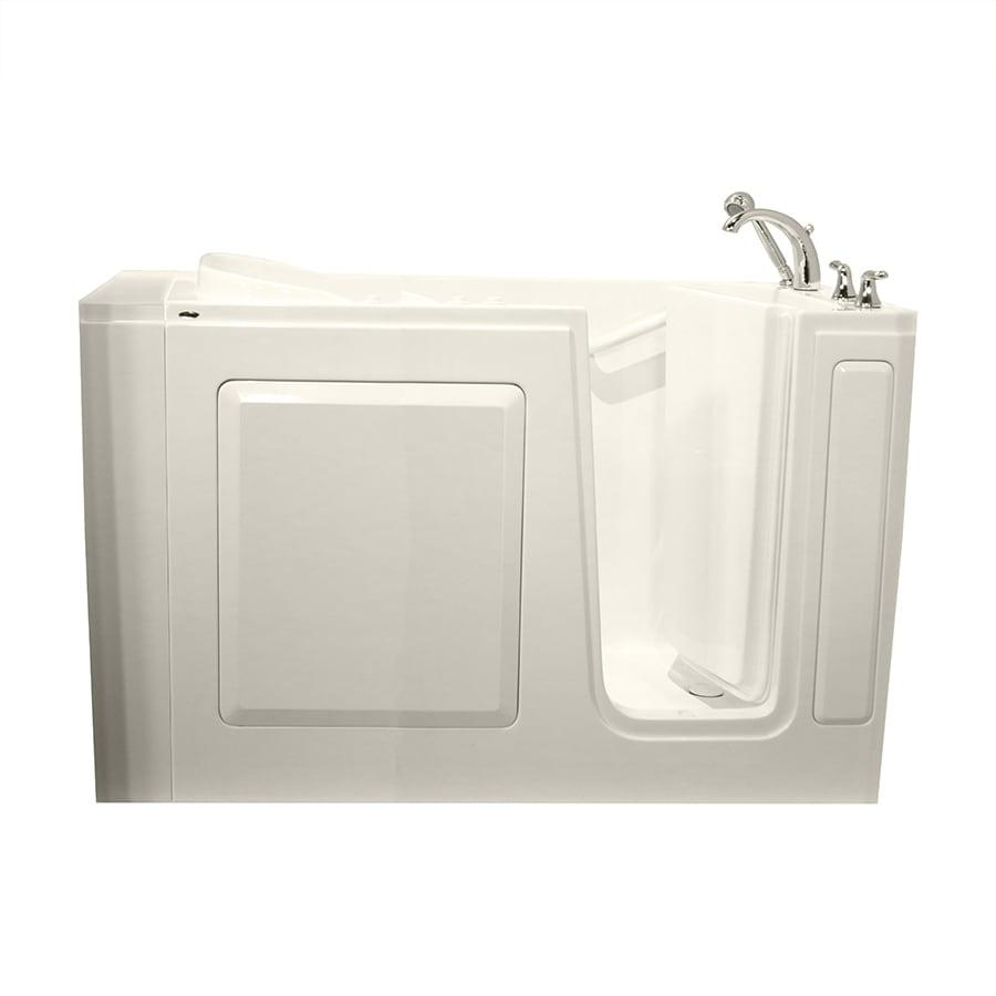 Safety Tubs Walk-In-Baths 50-in L x 30-in W x 37-in H Biscuit Gelcoat/Fiberglass 1-Person-Person Rectangular Walk-in Air Bath