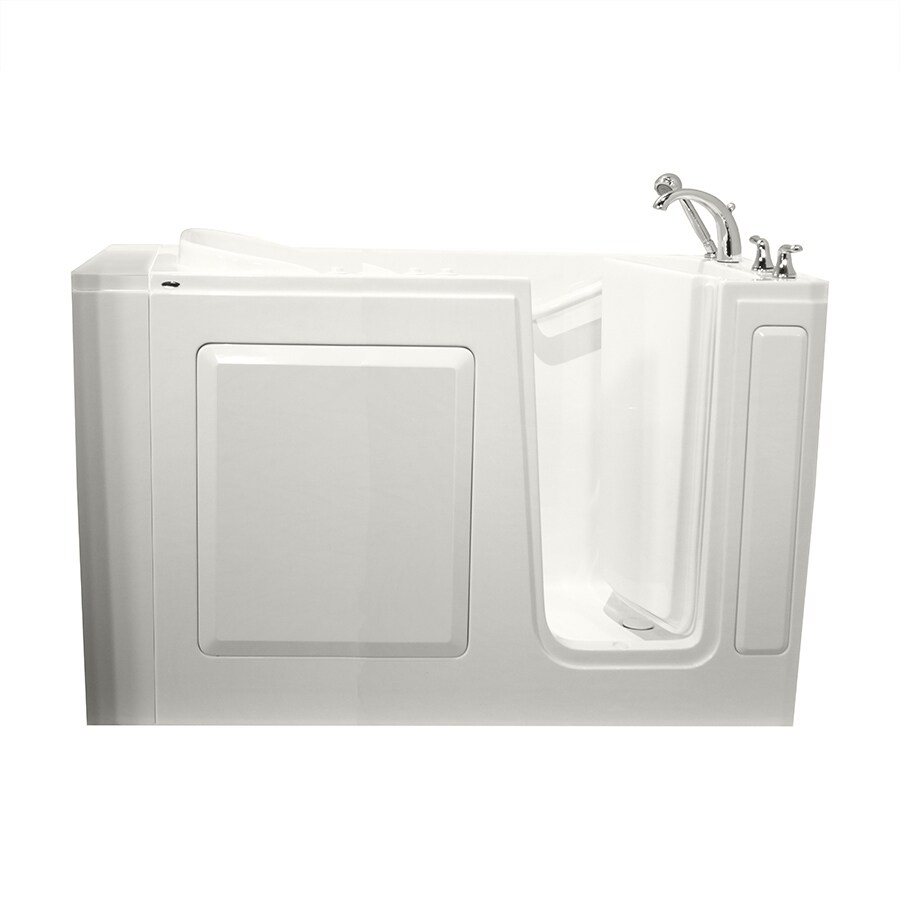 Safety Tubs 50-in L x 30-in W x 37-in H 1-Person White Gelcoat/Fiberglass Rectangular Walk-in Whirlpool Tub and Air Bath