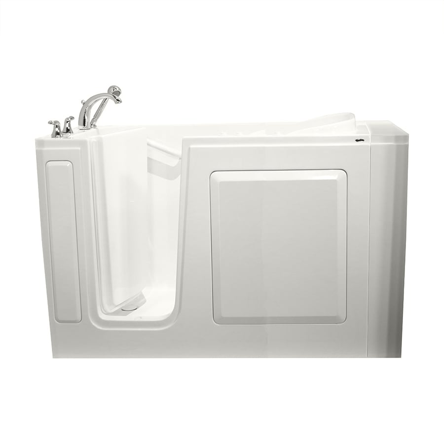 Safety Tubs 50-in L x 30-in W x 37-in H White Gelcoat and Fiberglass Rectangular Walk-in Whirlpool Tub and Air Bath
