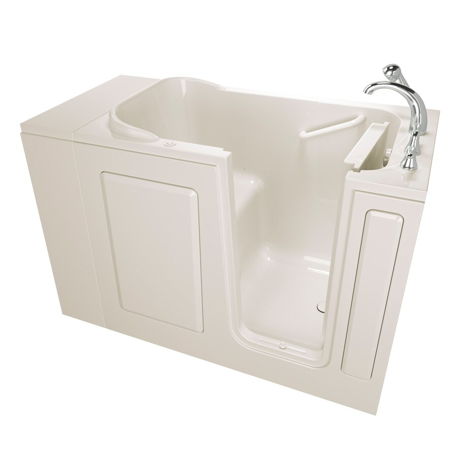 Safety Tubs Walk-In-Baths 48-in Biscuit Gelcoat/Fiberglass Walk-In Air Bath with Right-Hand Drain