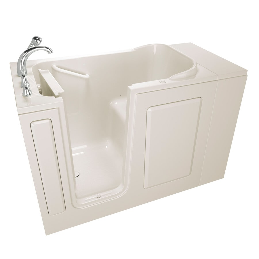 Safety Tubs Walk-In-Baths 48-in Biscuit Gelcoat/Fiberglass Walk-In Air Bath with Left-Hand Drain