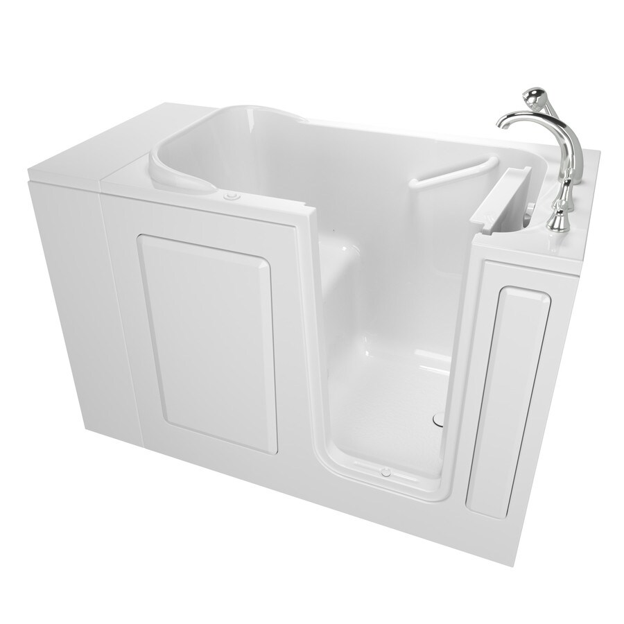 Safety Tubs Walk-In-Baths 48-in L x 28-in W x 37-in H White Gelcoat/Fiberglass 1-Person-Person Rectangular Walk-in Air Bath