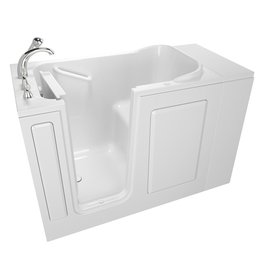 Safety Tubs Walk-In-Baths 48-in L x 28-in W x 37-in H White Gelcoat/Fiberglass Rectangular Walk-in Air Bath