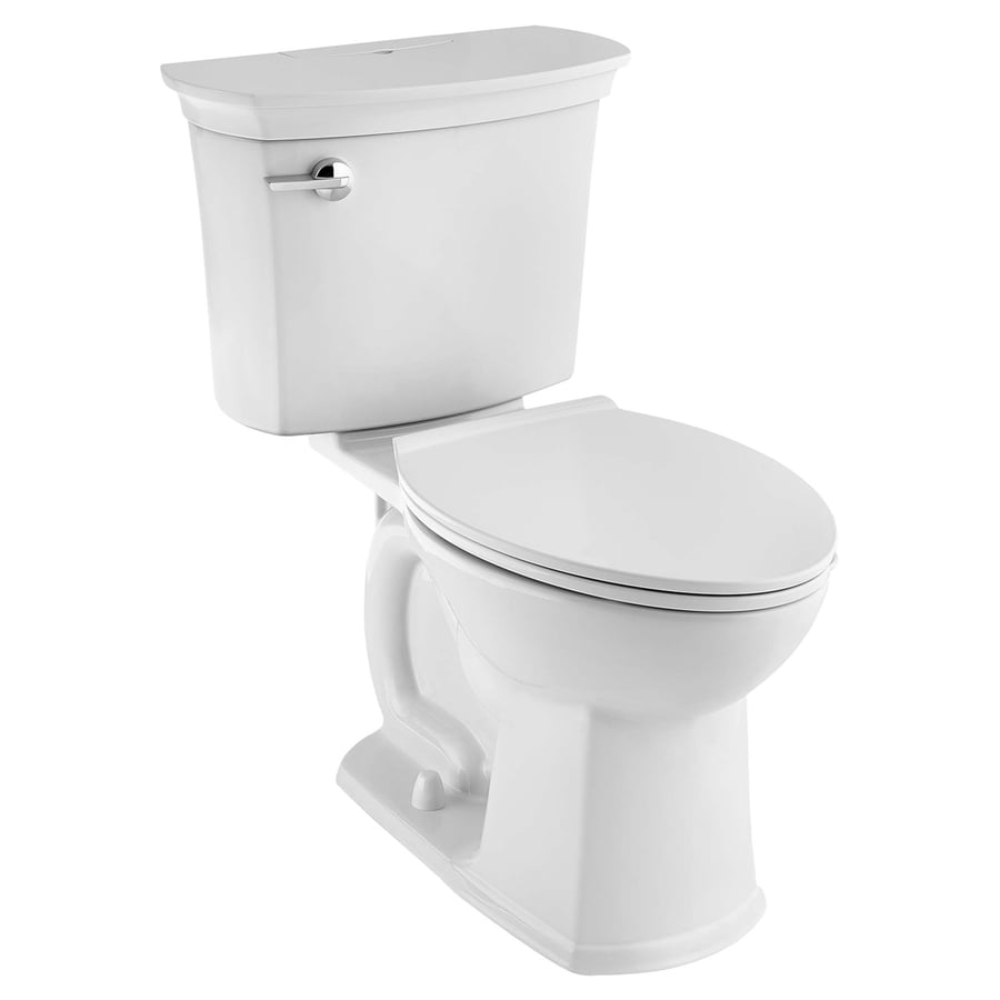 American Standard ActiClean White WaterSense Labeled Elongated Chair Height  2 Piece Toilet 12 In