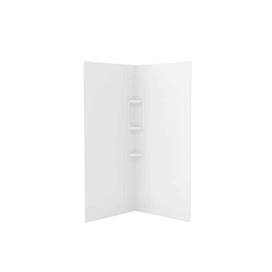 American Standard Axis White Shower Wall Surround Corner Wall Panel (Common: 36-in x 36-in; Actual: 72-in x 36-in x 36-in)