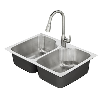 American Standard Tulsa 33 In X 22 In Stainless Steel
