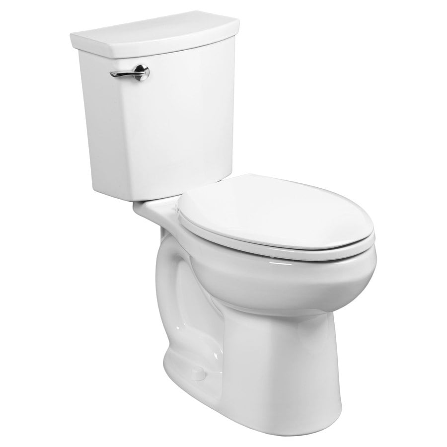 American Standard H2Option White 1.1-GPF (4.16-LPF) 12 Rough-In WaterSense Elongated 2-Piece Standard Height Toilet