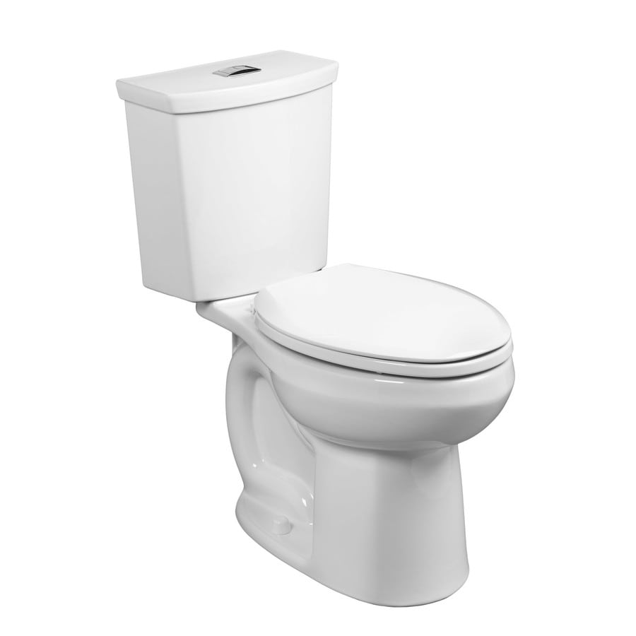 American Standard H2Option 1.28-GPF (4.85-LPF) White Dual Flush Elongated Chair Height 2-piece Toilet